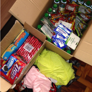 All packed and ready to be dropped off at relief ops centre