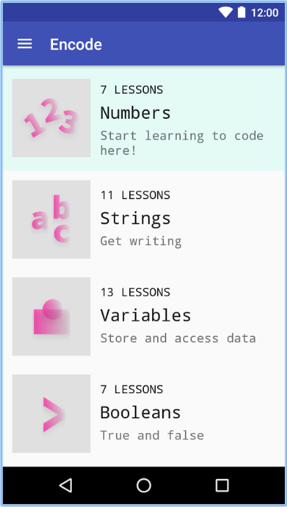 Image Credit: Encode: Learn To Code/GooglePlay